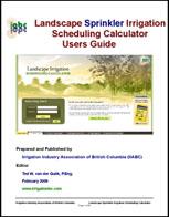 Landscape sprinkler irrig sched calc users guide