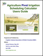 Cover - agric pivot irrig sched calc user guide