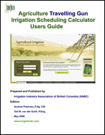Cover - agric travelling gun irrig sched calc user guide
