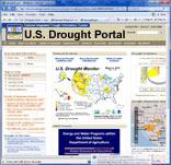 US drought portal website