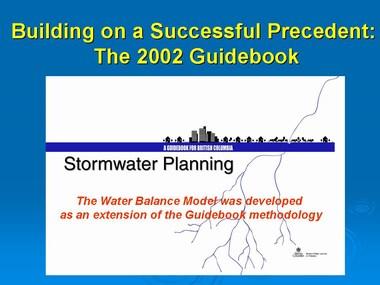 Guidebook & waterbalancemodel