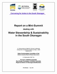 Report on whistler mini-summit - cover (240p)