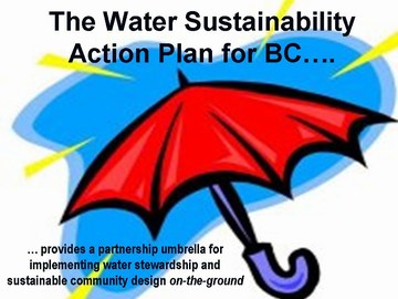 Water sustainability action plan  - umbrella graphic