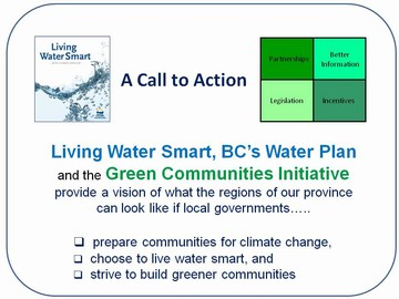 Living water smart & building greener communities - call to action