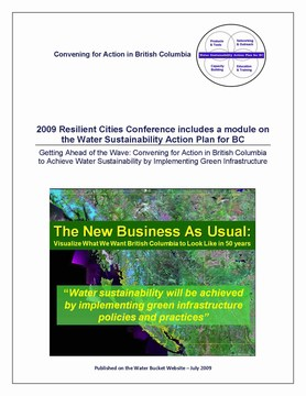 Water bucket story about  water sustainability action plan module at resilient cities - cover (360p)
