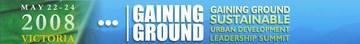 2008 gaining ground summit - banner