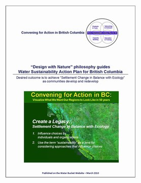 Design with nature philosophy guides action plan - cover