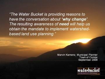 Water bucket - marvin kamenz quote
