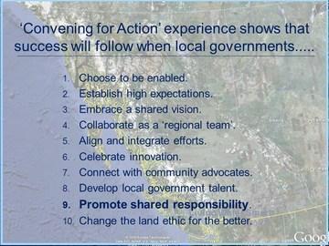 Convening for action - guiding principles