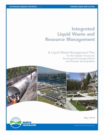 Metro van - integrated liquid waste & resource mgmt plan - cover (465p)