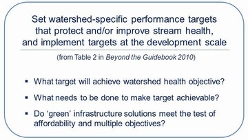 Watershed targets - three questions