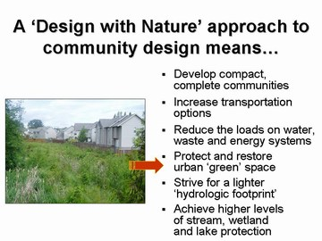 Design with nature means...