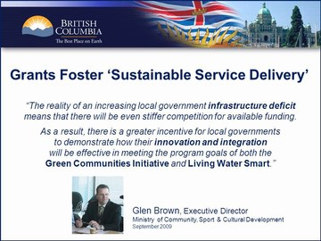 Grants foster sustainable service delivery