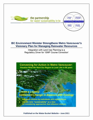 BC environment minister strengthens metro vancouvers visionary plan for managing rainwater resources - cover (475p)