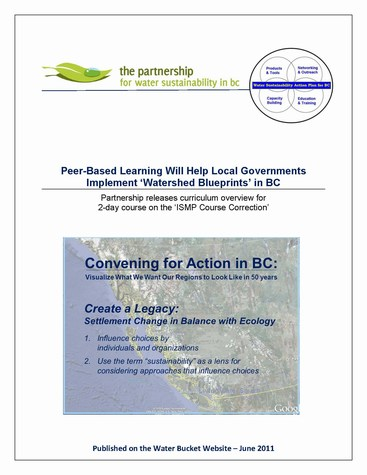 Peer-Based learning will help local governments implement watershed blueprints in bc -- cover (475p)