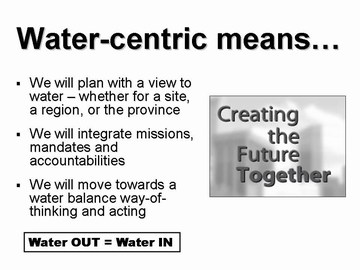 WIC workshop - water-centric overview, sept 2006