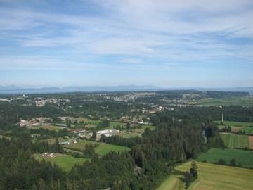 Comox valley aerial