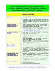 Program overview for green infrastructure leadership forum (240p)