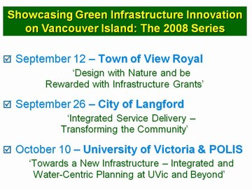 UVIC showcasing - 2008 schedule