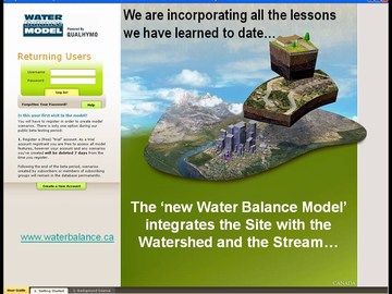 2008 learning lunch pilot - new water balance model