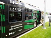 Showcasing innovation in surrey -  green bus (180pixels)