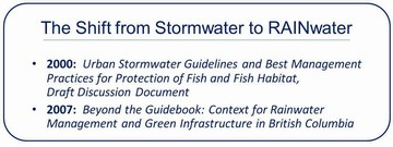 DFO guidelines - shift from stormwater to rainwater