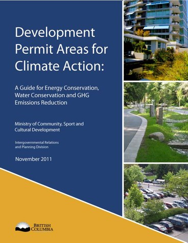 Development permit areas for climate action in british columbia - cover (475p)