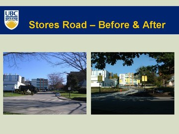 UBC sustainability street - before & after in 2006