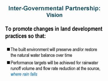 Inter-Governmental partnership - vision (dec 2006)
