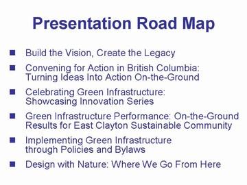 Presentation road map - gvrd sustainability breakfast , dec 2006