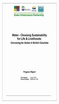Water - choosing sustainability for life & livelihoods, september 2006