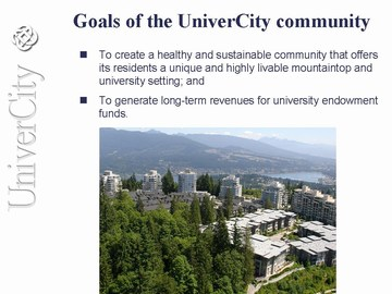 UC5 - goals of the sustainable community