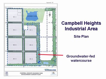 Showcasing innovation - campbell heights industrial area  - site plan