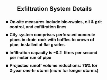 Showcasing innovation - campbell heights -exfiltration system