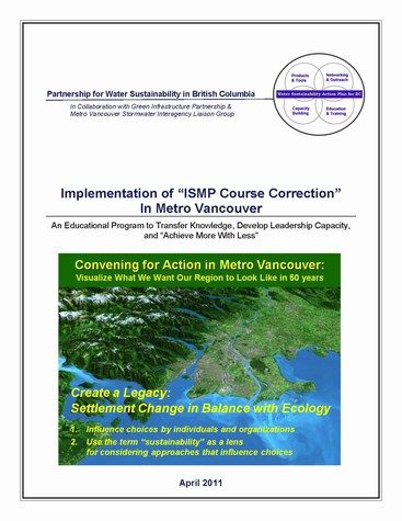 ISMP course correction - cover page for educational overview (475p)