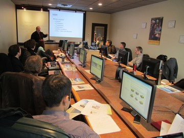 WBM workshop hosted by obwb - classroom setting