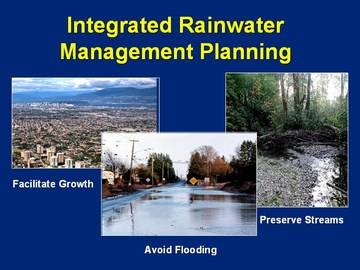 Integrated rainwater mgmt planning