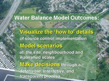 Water balance model outcomes - dec 2006