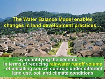 Water balance model - quantify benefits (dec 2006)