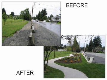 Delta - before & after photos for 86 avenue swale & infiltration galllery