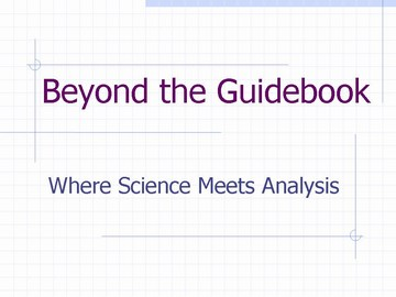 Beyond the guidebook - title slide  (march 2007)