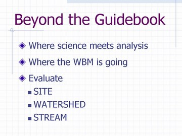 Beyond the guidebook - slide 12  (march 2007)