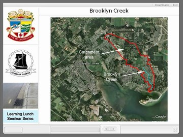 Courtenay seminar #3 - brooklyn creek drainage area