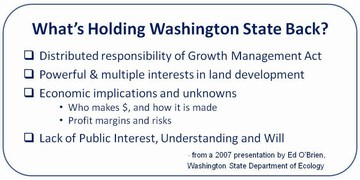 What is holding washington state back