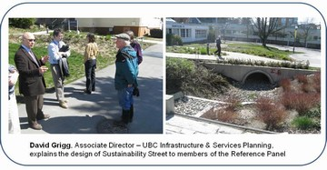 Reference panel at ubc sustainability street