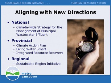 Metro vanvouver: aligning with new directions