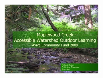 Accessible watershed outdoor learning