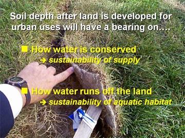 Soil depth & water sustainability