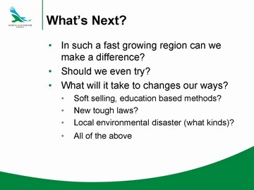 Richard boase - final slide in january 2010 bcwwa presentation