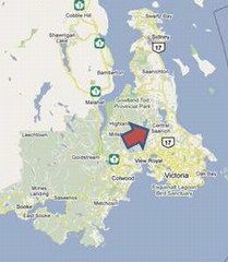 Location map for district of central saanich (240p)